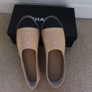 Chanel classic espadrilles beige/black size 38